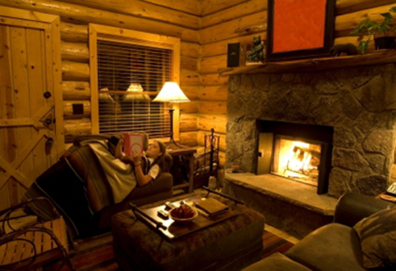 Oasis log homes fireplace for Cabin fireplace pictures