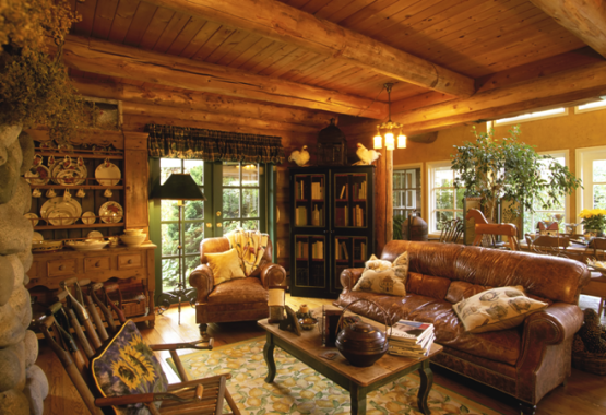 Oasis Log Homes Living Room